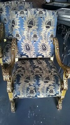Antique Throne Chairs Set of 2 Matching From Historic Rice Hotel