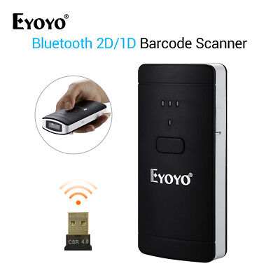 PORTABLE BARCODE SCANNER 2D/1D/QR/Code Scan blue-tooth for Window IOS  Android