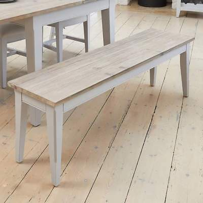 Signature Grey 150cm Dining Bench - Distressed Painted Large Hall Bench