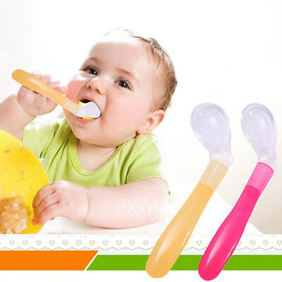 Free Infant Food Utensils Baby Feeding Spoon Toddler Tableware Eating Training