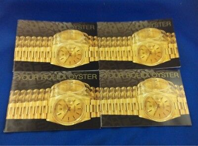 Rolex Oyster Instruction Lot