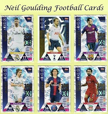 CHAMPIONS LEAGUE MATCH ATTAX 2018/2019 ☆ 100 Club/Hat-Trick Hero ☆ #429 to #443