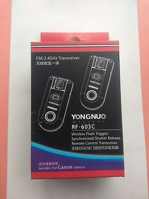 Yongnuo RF-603 C1 Kit Wireless Flash Trigger Transceiver For suitable for Canon