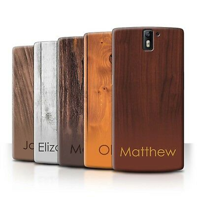 Personalised Custom Wood Grain Effect Phone Case for OnePlus One/Initial/Name