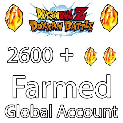 Dokkan Battle Farmed Global 2600+ Stones