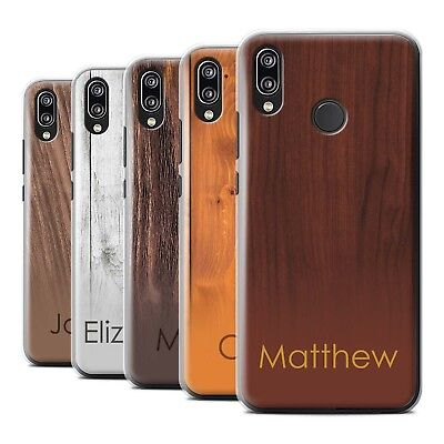 Personalised Custom Wood Grain Effect Phone Case for Huawei P20 Lite/Initial