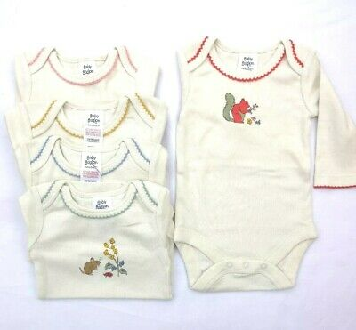 Ex Baby Boden Girls Peter Pan Red Spotty Dotty Frill Bodysuits Tops 2//3 Years