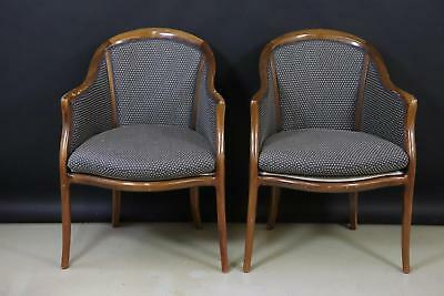 2x Sessel Armlehnsessel Holz Chippendale Mitte 20.Jhd (X794)