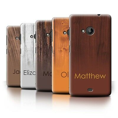 Personalised Custom Wood Grain Effect Phone Case for Microsoft Lumia 535/Initial