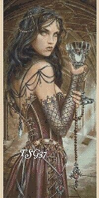 Cross Stitch Chart - Gothic Lady- no. 30 TSG37 - FREE UK P&P