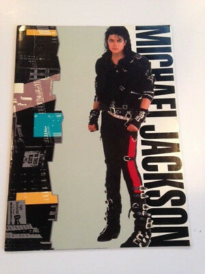 Vintage Michael Jackson 1988 World Concert Tour Magazine Program Bad fold out