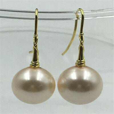 16mm south sea baroque Shell pearl earring 14k natural chic earbob hand-made