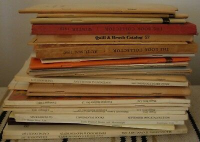 old book store auction collectors catalogs