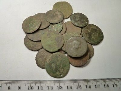 2150	Lot of 23 ancient Roman, Byzantine, provincial, copper and bronze big coins