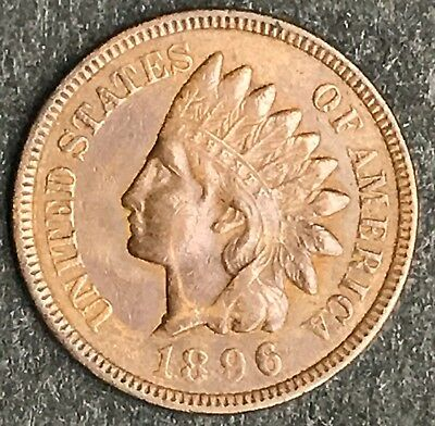 1896 Indian Head Cent, High Grade, Estate Coin, WK