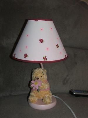 Disney Winnie The Pooh Delightful Day Lamp And Shade Euc