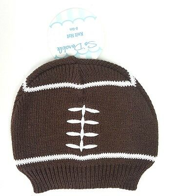 SoDorable Football Knit Beanie Stocking Cap Hat Infant Toddler 0-6 Months  NWT add12248682