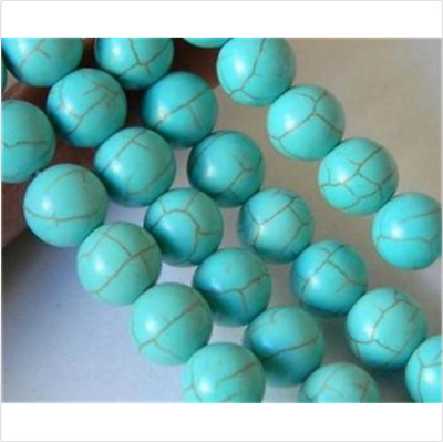 Healing DIY 6mm 100% Green Turquoise Striped Gemstone Loose bead 15Inch Bead AAA