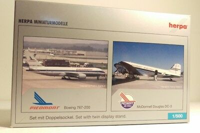 HERPA Piedmont Airlines Boeing 767-200 & McDonnell Douglas DC-3 514866 1:500