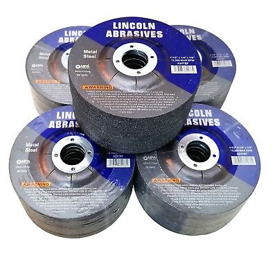 "50 Pack 4-1/2"" Grinding Wheels 1/4 Inch Thick 7/8"" Arbor Metal / Steel Discs"