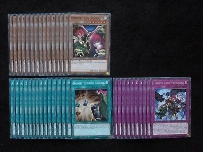 Yu-Gi-Oh 40 Card Harpie Lady Deck  *Ready To Play*