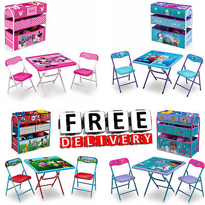 Kids Table And Chair Set Toy Organizer Children Toddler Playroom Furniture
