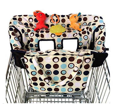 NEW! Croc-n-frog 2-in-1 Shopping Cart Cover - Baby Toddler High Chair Cover