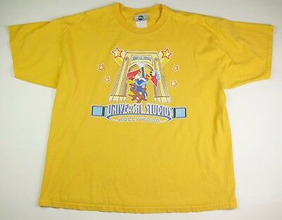 Woody Woodpecker Universal Studios Hollywood Yellow Tee T-Shirt, Adult Size Xxl