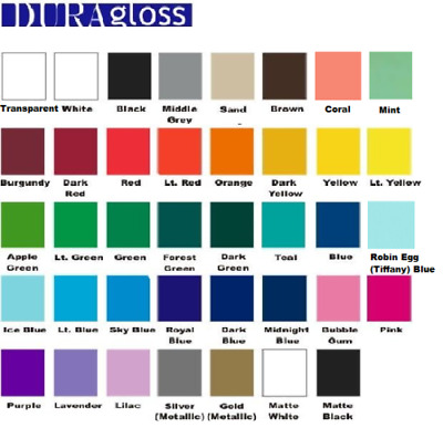 """12"""" x 3 ft roll - Permanent Sign Vinyl - Adhesive Outdoor - Crafts - Pick Color"""