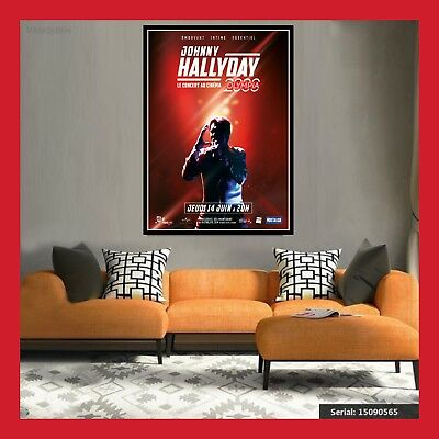 Replique Affiche Toile Poster Photo Concert Cd Johnny Hallyday Olympia 2000 Dvd