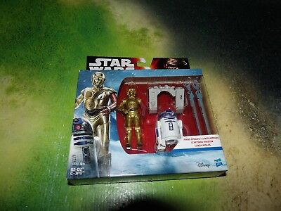 Hasbro Star Wars The Force Awakens C-3PO und R2-D2 Droid with Firing Missiles im