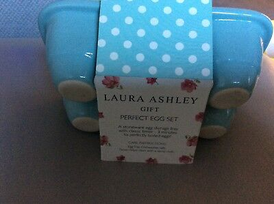Laura Ashley new gift set ceramic egg storage & egg timer nice Xmas gift