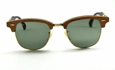 89038a1dcbc Ray-Ban Sunglasses Clubmaster Wood 3016-M 1181 WOOD on Black   Green G