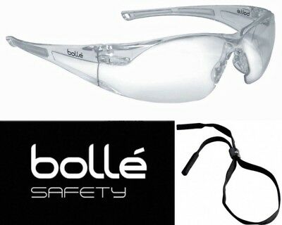 Bolle 40070 Rush Safety Glasses with Clear Anti-Scratch and Anti-Fog Lens