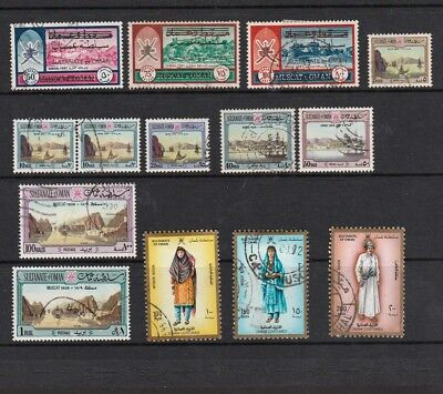 Sultanate Of Oman 1970-1990 Selected Stamps Including Views & Muscat Overprints