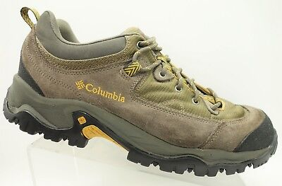 e2a5f0a8b3b0 Columbia Brown Leather Walking Trail Hiking Lace Up Outdoor Shoes Men s ...