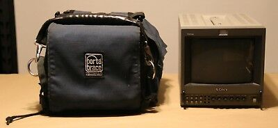 Sony PVM-8042Q CRT Production Color Video Monitor. With Porta Brace