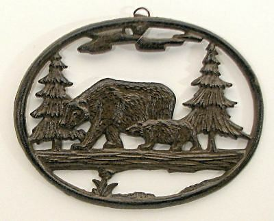 Bear Wall Plaque Cast Iron