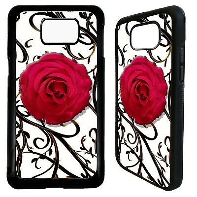 Red Rose floral flower print art case cover for Samsung Galaxy S6 S7 S8 S9 plus