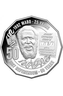 Australian Fifty 50c cent coin - 2017 - MABO Pride & Passion - RAM Mint Roll X1