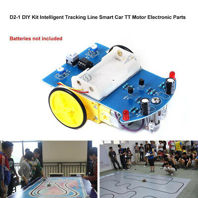 D2-1 Intelligent Tracking Smart Car Robot DIY Kits W/ TT Motor Wheel Electronic