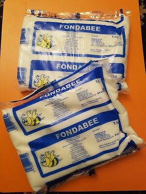 Fondabee 2 kg -2x1kg packs Fondant Bee Feed - Sugar - Beekeeping Candy