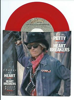 """1983 TOM PETTY and the Heartbreakers """"CHANGE OF HEART"""" With PIC SLEEVE 45 rpm 7"""""""