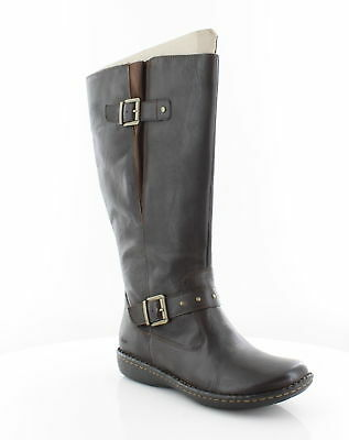 c4655cfd9a93 BORN AUSTIN WOMEN Shoes Dark Brown Pebble Leather Knee Boots Sz 9.5 ...
