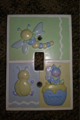 Neutral Gender Bug Theme Nursery Single Switch Plate - Heavy, Great condition