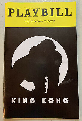 Playbill King Kong NYC The Broadway Theatre December 2018