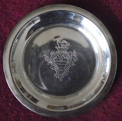 Set of 6 Vintage Etched Silverplate Drink Coasters Benedict Mfg Co
