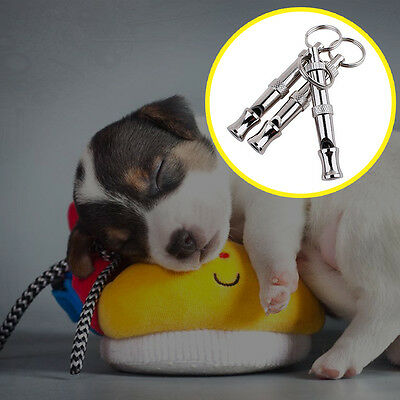 Dog Whistle to Stop Barking Bark Control Dogs Training Deterrent Whistle Silver
