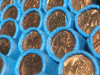 Old Lincoln Wheat Bank Coin Roll Vintage Wheats Cents Estate Sale Collection Pds