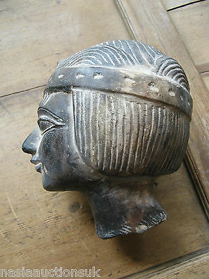 Antique Early 1900 Egyptian Princess Stone Sculpture Head Bust possibly French